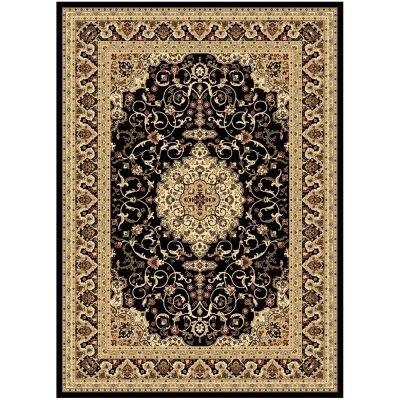 Julian Nela Turkish Made Oriental Rug, 380x280cm, Black