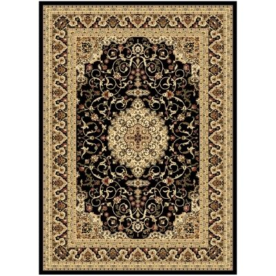 Julian Nela Turkish Made Oriental Rug, 150x80cm, Black