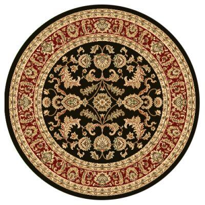 Julian Tait Turkish Made Oriental Round Rug, 160cm, Black / Red