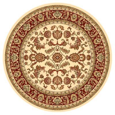 Julian Tait Turkish Made Oriental Round Rug, 120cm, Cream / Red