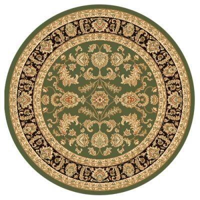 Julian Tait Turkish Made Oriental Round Rug, 120cm, Green / Black