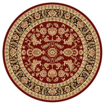 Julian Tait Turkish Made Oriental Round Rug, 160cm, Red / Black