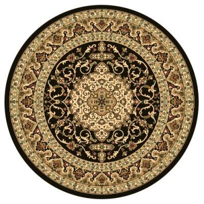 Julian Nela Turkish Made Oriental Round Rug, 160cm, Black