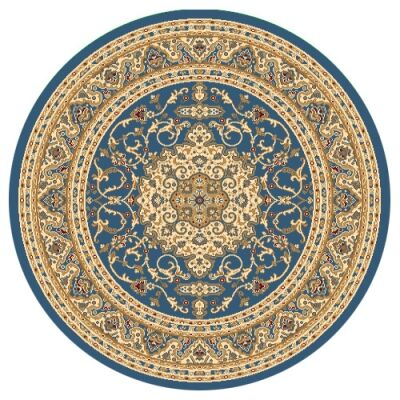 Julian Nela Turkish Made Oriental Round Rug, 120cm, Blue