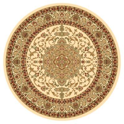 Julian Nela Turkish Made Oriental Round Rug, 120cm, Cream