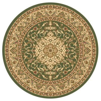 Julian Nela Turkish Made Oriental Round Rug, 160cm, Green