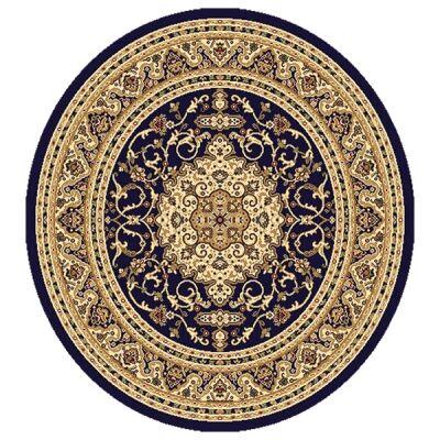 Julian Nela Turkish Made Oriental Round Rug, 120cm, Navy
