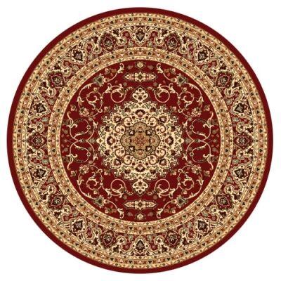 Julian Nela Turkish Made Oriental Round Rug, 160cm, Red