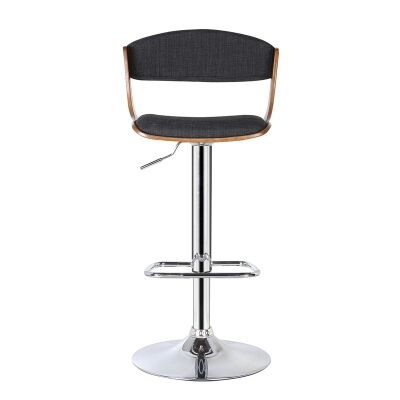 Signature Gas Lift Swivel Bar Chair with Fabric Seat