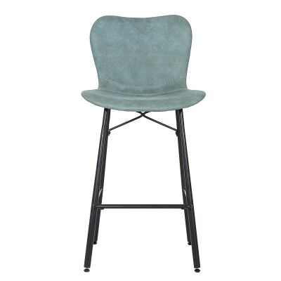 Cynthia Suede Fabric Counter Stool