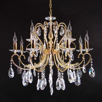 Persephone Asfour Crystal Chandelier, 12 Arm, Gold