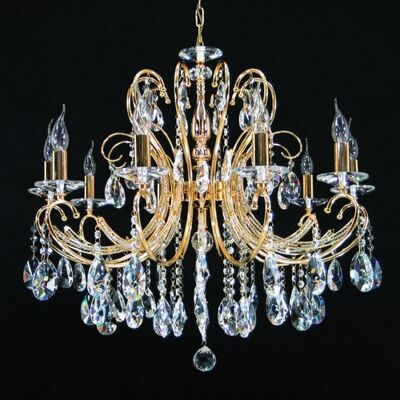 Persephone Asfour Crystal Chandelier, 10 Arm, Gold