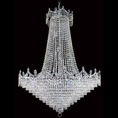 Phoebe Asfour Crystal Pendant Light / Chandelier, 82cm, Chrome