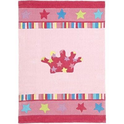 Annas Crown Kids Rug in Pink - 165x115cm
