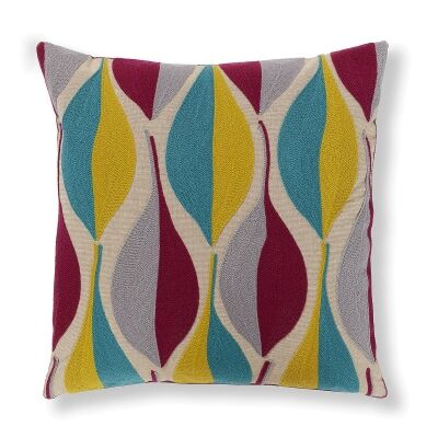 Chester Embroidered Cotton Scatter Cushion Cover