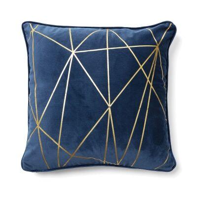 Field Fabric Scatter Cushion, Dark Blue