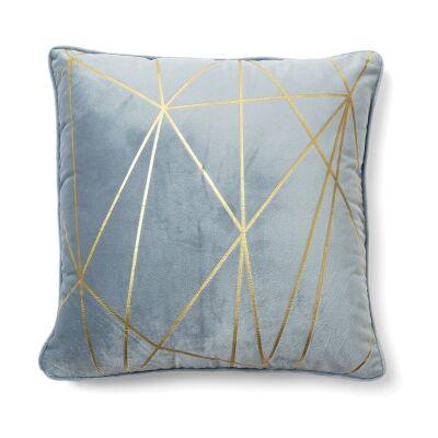 Field Fabric Scatter Cushion, Light Blue