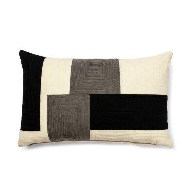 Cocoon Fabric Lumbar Cushion, Mono Blocks