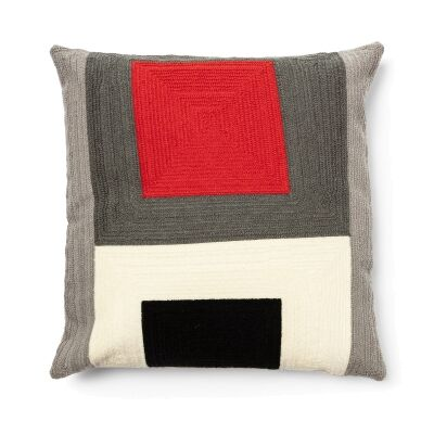 Cocoon Fabric Scatter Cushion, Red & Black Contrast