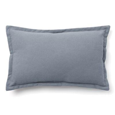 Walden Cotton Fabric Lumbar Cushion, Blue