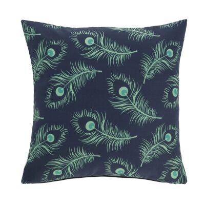 Elberton Fabric Indoor / Outdoor Scatter Cushion, Peacock Feather