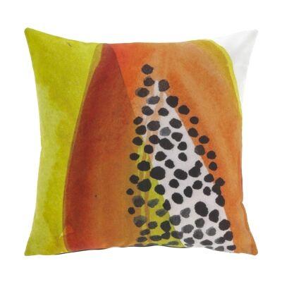 Hilo Fabric Indoor / Outdoor Scatter Cushion, Papaya