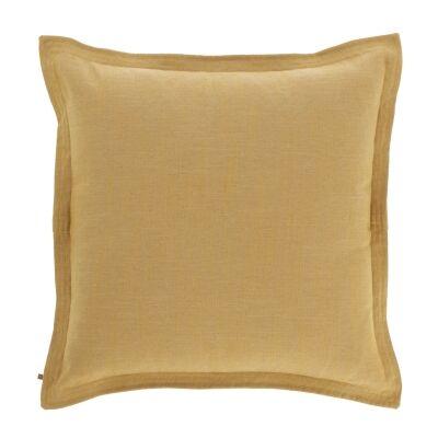 Moana Fabric Euro Cushion, Mustard