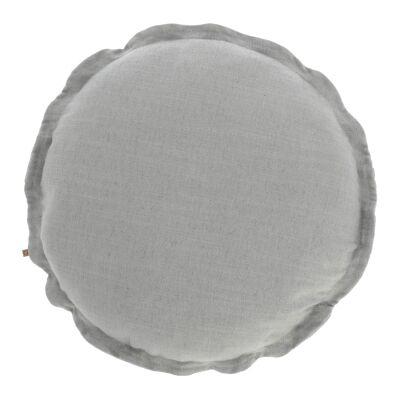 Moana Fabric Round Cushion, Grey