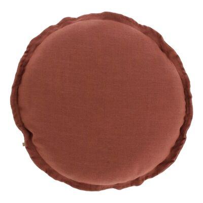 Moana Fabric Round Cushion, Maroon