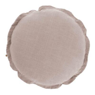Moana Fabric Round Cushion, Blush