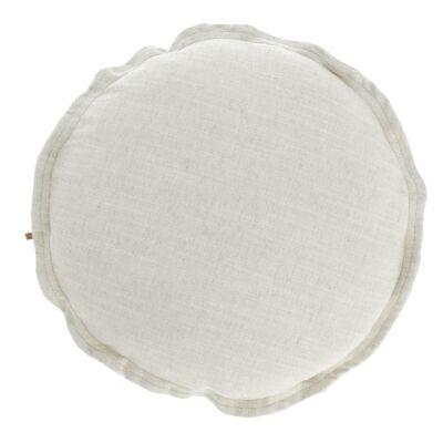 Moana Fabric Round Cushion, White