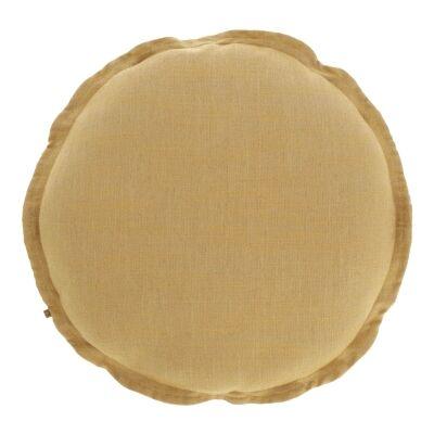Moana Fabric Round Cushion, Mustard