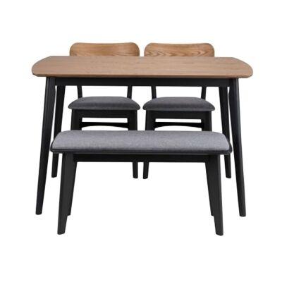 Kanaka 4 Piece Timber Dining Table Set, 120cm