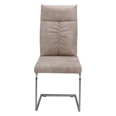 Rudi Ultrasuede Fabric Dining Chair, Chamois Beige