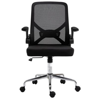 Malvern Mesh Fabric Collapsible Ergonomic Office Chair, Black