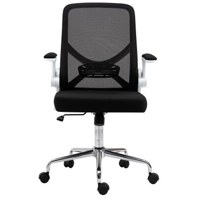Malvern Mesh Fabric Collapsible Ergonomic Office Chair, Black / White