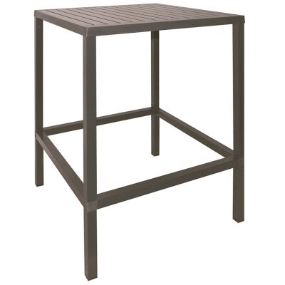 Cube Italian Made Commercial Grade Indoor / Outdoor Square Bar Table, 80cm, Taupe
