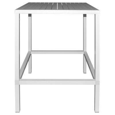 Cube Italian Made Commercial Grade Outdoor Square Bar Table, 80cm, White