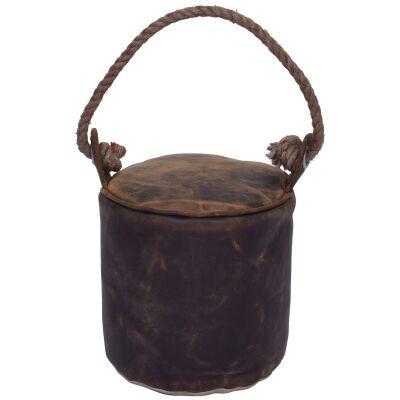 Raven Vintage Leather Round Door Stopper