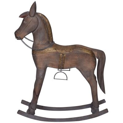 Glendare Carved Timber Rocking Horse Ornament, Medium