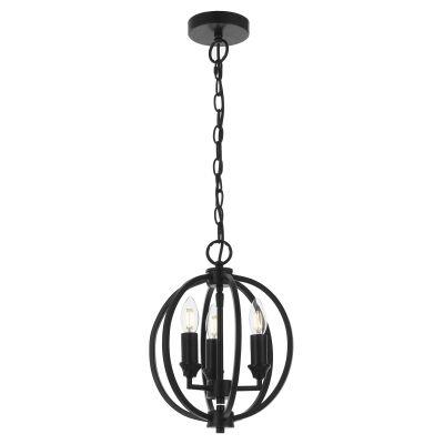 Kendall Metal Sphere Pendant Light, Small, Black