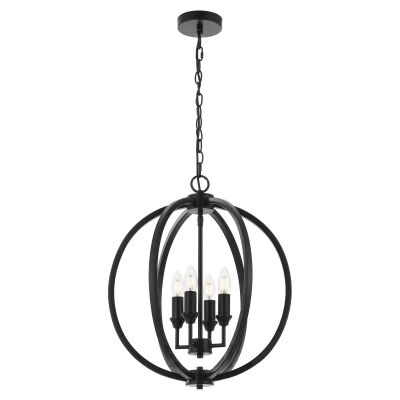 Kendall Metal Sphere Pendant Light, Medium, Black