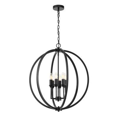 Kendall Metal Sphere Pendant Light, Large, Black