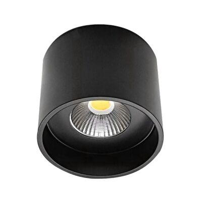 Keon Surface Mount LED Downlight, 5000K, Large, Black