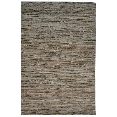 Kerla Horizon Handwoven Silk & Jute Rug, 230x160cm, Brown / Black