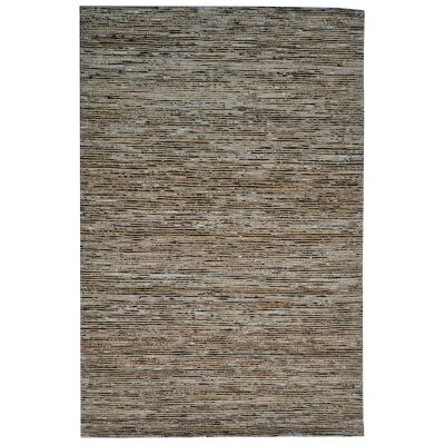 Kerla Horizon Handwoven Silk & Jute Rug, 280x190cm, Brown / Black