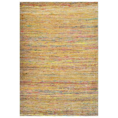 Kerla Horizon Handwoven Silk & Jute Rug, 160x110cm, Natural / Gold