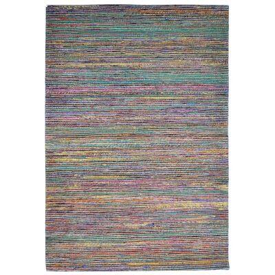 Kerla Horizon Handwoven Silk & Jute Rug, 160x110cm, Natural / Multi