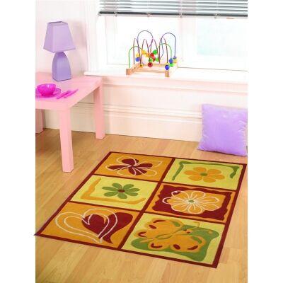 Designer Kids Wool Rug - K124 - Yellow - 110x160