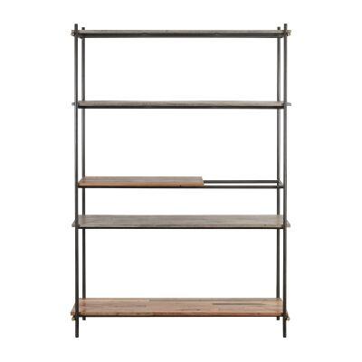 Discreet Reclaimed Timber & Metal Display Shelf